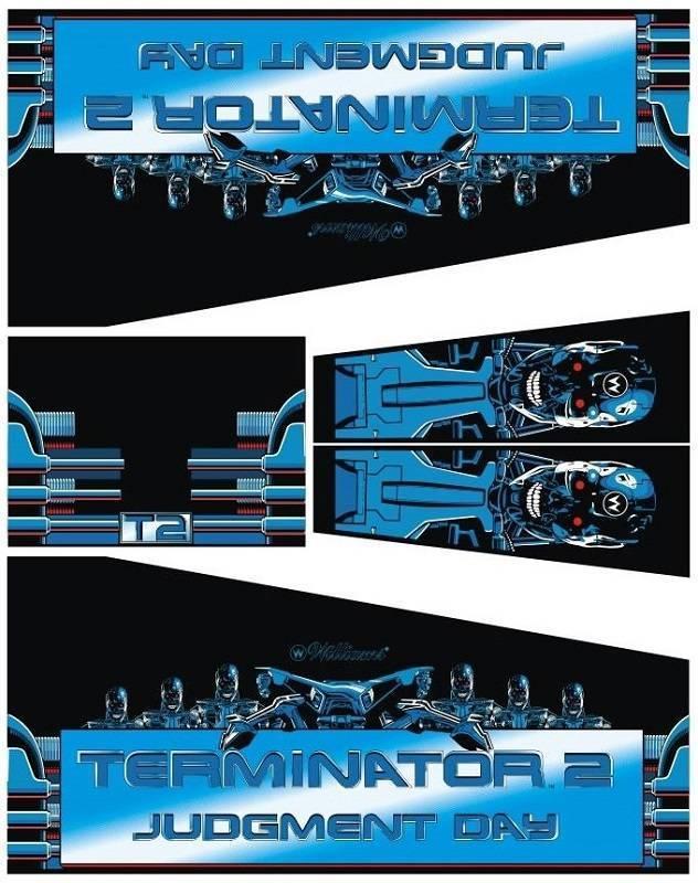 Terminator 2 / T2 - Pinball Cabinet Decals
