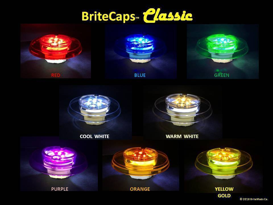 BriteMods BriteCaps™ Classic Pop Bumper Lighting for Bayonet Sockets