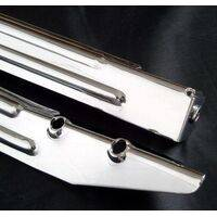 Leg - 28-1/2 inch - Chrome Ribbed - Premium High Gloss Mirror Finish