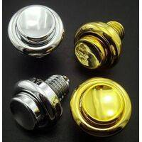 "Flipper Button 1"" (1-1/8"") Plastic Chrome"