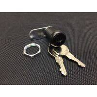 Coin Door Lock - Single Bitted - Black