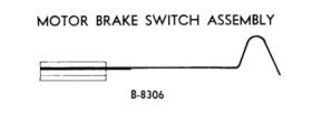 Motor brake leaf switch - B-8306
