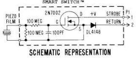 Target Smart Switch (Piezo Film Sensor) - Rectangular White - Front Mounting Bracket