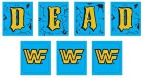 WWF ROYAL RUMBLE (DE) Decal drop targets (7 pieces)
