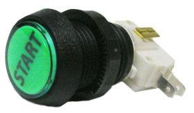 Pushbutton 1 inch round green - Start - STERN