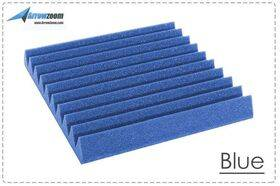 Arrowzoom Acoustic Panels Sound Absorption Studio Soundproof Foam - Wedge Tiles - 50 x 50 x 5 cm - Blue
