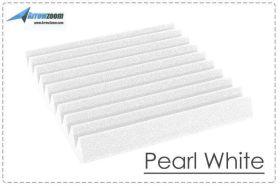 Arrowzoom Acoustic Panels Sound Absorption Studio Soundproof Foam - Wedge Tiles - 25 x 25 x 5 cm - White