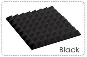 Arrowzoom Acoustic Panels Sound Absorption Studio Soundproof Foam - Pyramid Tiles - 25 x 25 x 5 cm Black