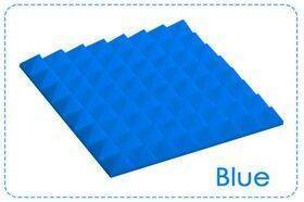 Arrowzoom Acoustic Panels Sound Absorption Studio Soundproof Foam - Pyramid Tiles - 25 x 25 x 5 cm Blue