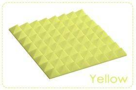 Arrowzoom Acoustic Panels Sound Absorption Studio Soundproof Foam - Pyramid Tiles - 25 x 25 x 5 cm Yellow