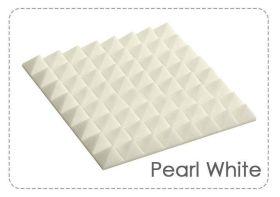 Arrowzoom Acoustic Panels Sound Absorption Studio Soundproof Foam - Pyramid Tiles - 50 x 50 x 5 cm White