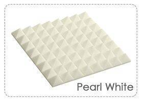 Arrowzoom Acoustic Panels Sound Absorption Studio Soundproof Foam - Pyramid Tiles - 25 x 25 x 5 cm White