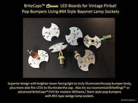 BriteMods BriteCaps™ Classic Pop Bumper Lighting for Bayonet Sockets