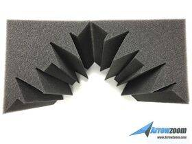 Arrowzoom Acoustic Panels Sound Absorption Studio Soundproof Foam - Bass Trap Mini - 12 X 12 X 24 cm