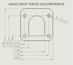 Drop Target Assembly - Left - 1-Bank Smart