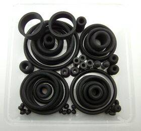 Rubber rings assortment, USA type - BLACK