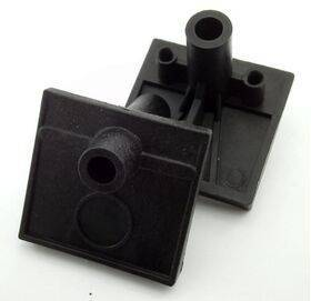 Ball shooter housing - nylon black - for EM Pinball Machines