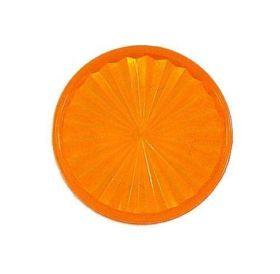 "Playfield insert circle1-1/2"" Orange tr"