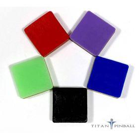 """Titan Silicone Rubber Bumpers - 1"""" x 1"""" Adhesive Bumper Pad - 23-6629"""