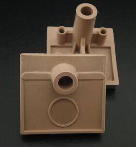 Ball shooter housing - nylon tan - for EM Pinball Machines